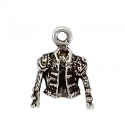 Pendentif charms veste de torero de zamak et de l'argent