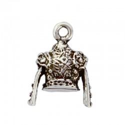 Colgante charms chaquetilla de torero de zamak y plata