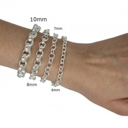 Chain roller 10mm with silver plated fine