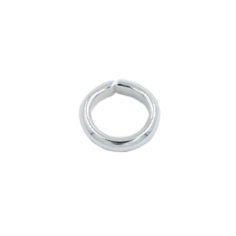 Anilla redonda 7mm de latón con baño de plata