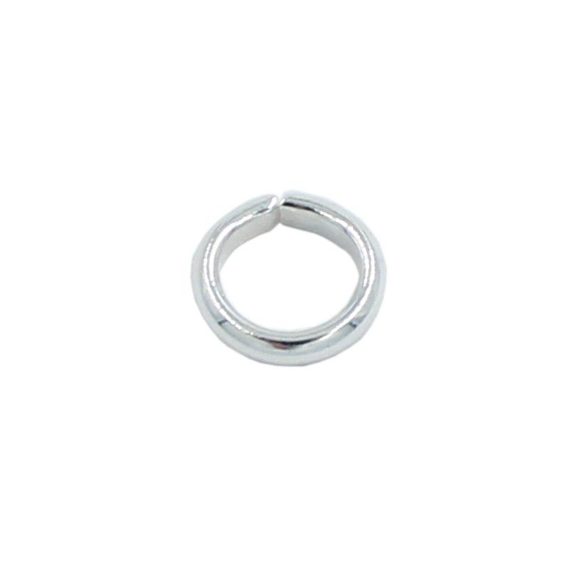 Ring round 7mm brass with silver plated