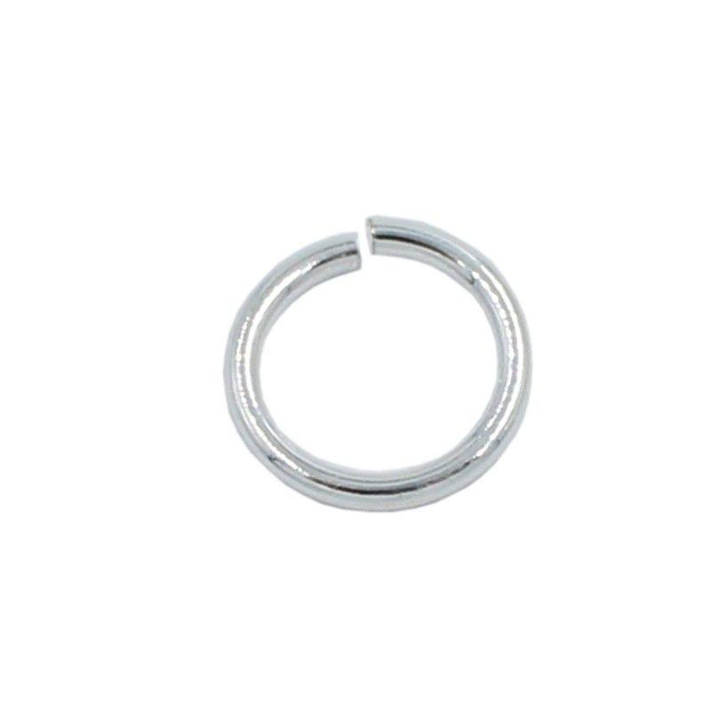 Anilla redonda 12mm de latón con baño de plata (20 unidades)