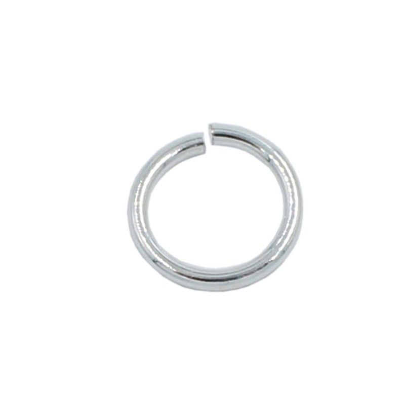 Ring round 12mm brass with silver plated (20 units)