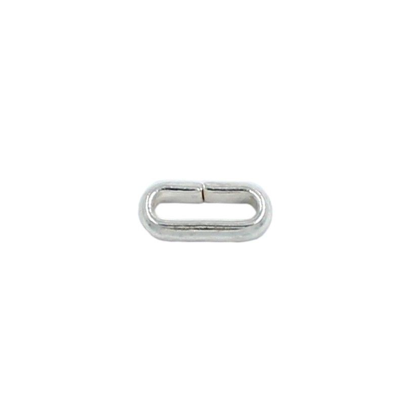 Ring oval 8mm brass bathed in silver (20 units)