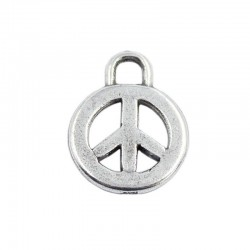 Charm symbol of peace of zamak and silver