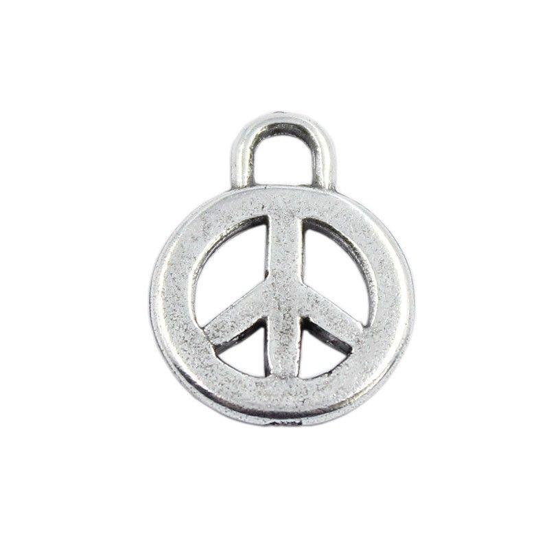 Charm symbol of peace of zamak and silver