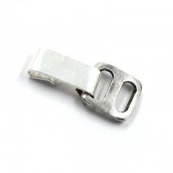Alargador para pulseras con cierre de fleje, de zamak, latón y plata