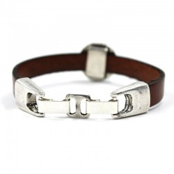 Cordon de rallonge pour les bracelets avec fermoir en acier, zamak, de laiton et d'argent