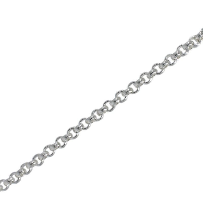 Chain, rolo 3mm in silver
