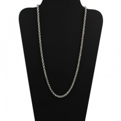 Chain, rolo 3mm in silver