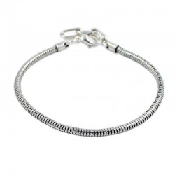 Bracelet style Pandora chain snake and silver bath