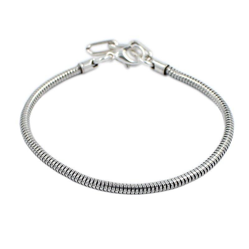 Bracelet style Pandora chain snake and silver bath