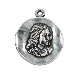 Medal Virgin Girl of zamak and silver