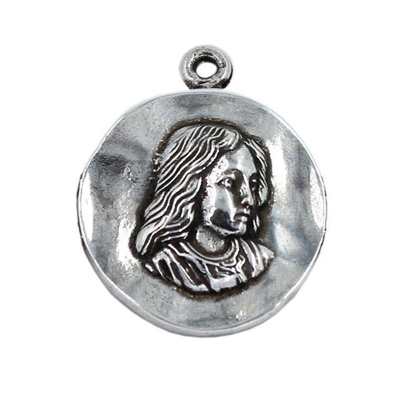Médaille Vierge Fille de zamak et de l'argent