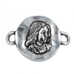 Conector Virgen Niña de zamak y plata
