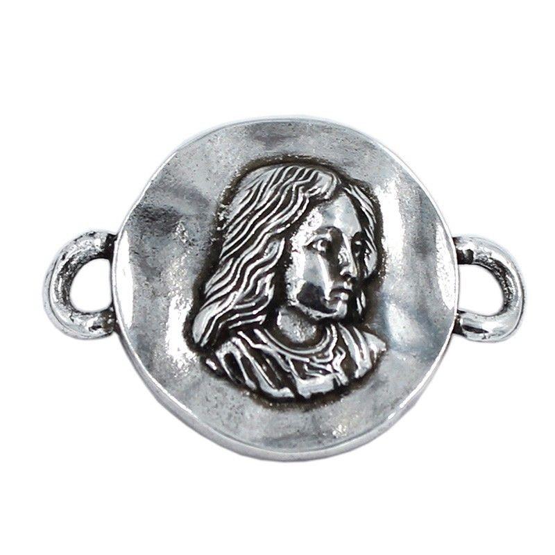 Connector Virgin Girl of zamak and silver