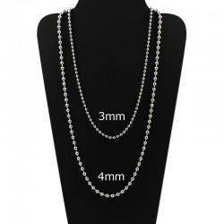 chaîne de perles de 4mm de mobilier, de laiton et d'argent