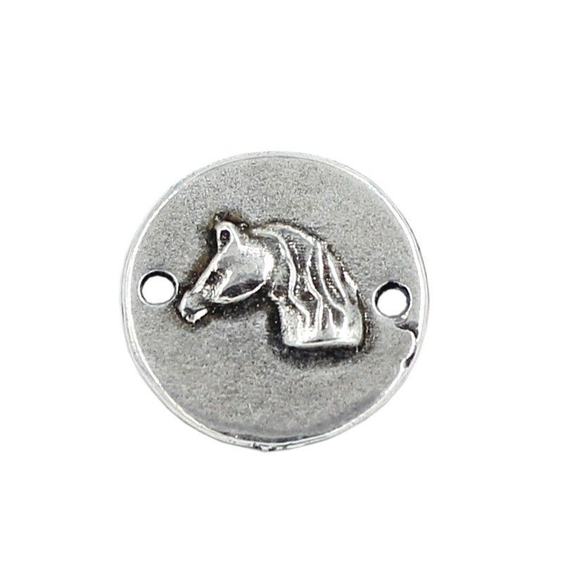 Connector Horse of zamak and silver