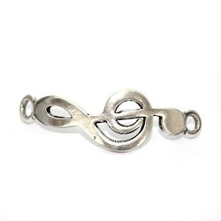 Trinket musical note of zamak and silver for making bracelets