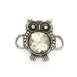 Trinket owl to make bracelets made of zamak and silver